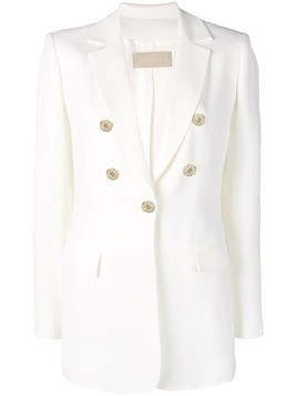 Elie Saab tailored buttoned blazer - White