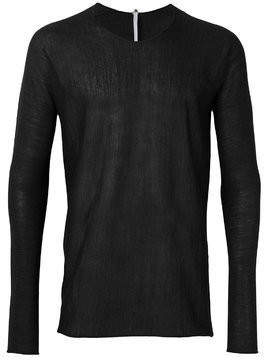 Label Under Construction arched raw edge jumper - Black