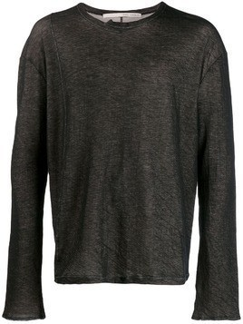 Isabel Benenato double layer sweater - Black