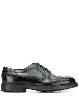Doucal's brogue-style lace up shoes - Black