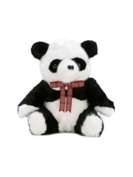 Liska panda bear cuddly toy - Black