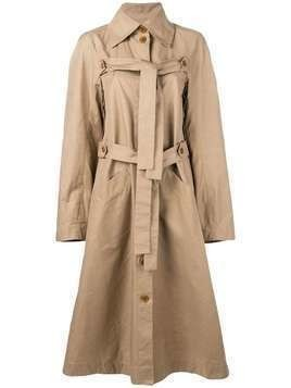 Henrik Vibskov Onion trench coat - NEUTRALS