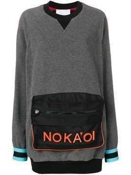 No Ka' Oi pouch sweatshirt - Grey