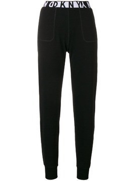 DKNY logo track trousers - Black