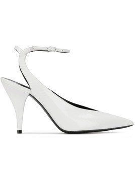 Casadei pointed toe mules - White