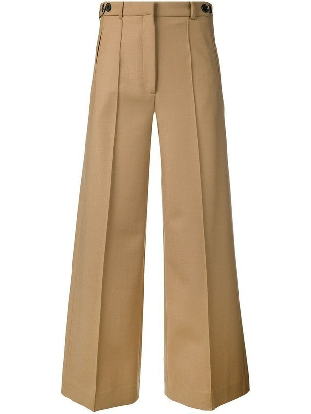 Rokh cropped wide-leg trousers - Neutrals