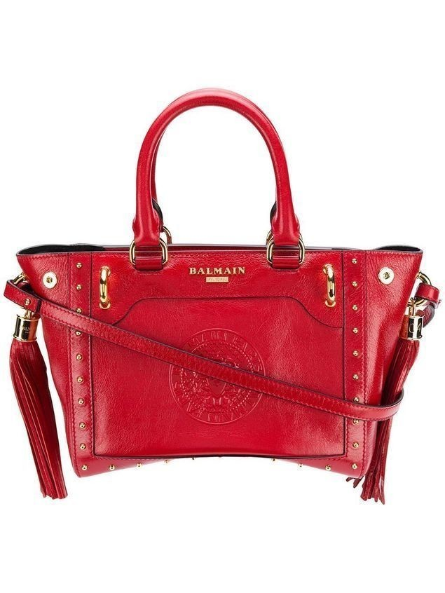 Balmain mini tote bag - Red