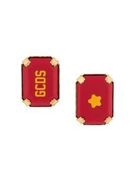 Gcds Star Rocks logo earrings - Red