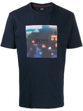 BOSS printed logo T-shirt - Blue