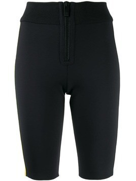 M Missoni zip front cycling shorts - Black
