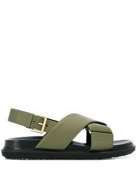 Marni Fussbett flat sandals - Green