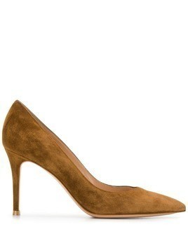 Gianvito Rossi suede pointed pumps - Brown