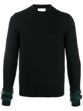 Haikure knitted panelled jumper - Black
