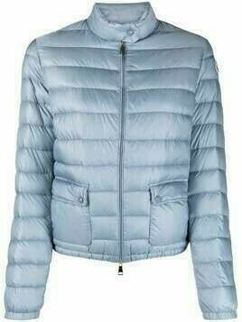 Moncler cropped quilted zipped jacket - Blue