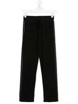 Stella Mccartney Kids TEEN side stripe track pants - Black