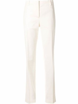 Nº21 straight-leg mid-rise tailored trousers - White