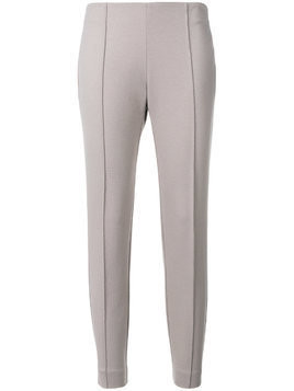 Le Tricot Perugia classic skinny-fit trousers - Grey
