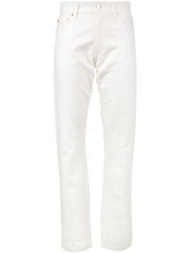 Holiday White high waist straight jeans