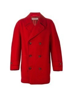 Issey Miyake Vintage double breasted coat - Red