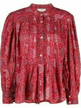 Isabel Marant Étoile abstract print peplum blouse - Red