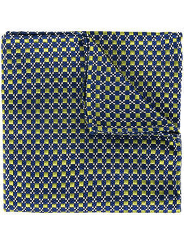 Dsquared2 geometric embroidered scarf - Blue
