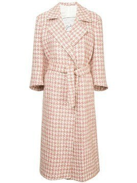 Giuliva Heritage Collection belted long coat - Pink