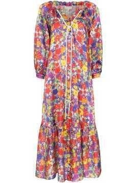 Borgo De Nor Floral Burst midi dress - PURPLE