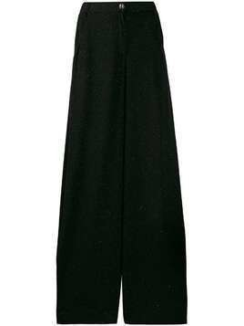 Just Cavalli high-rise wide-leg trousers - Black