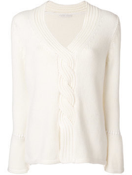 Borgo Asolo deep V-neck jumper - White