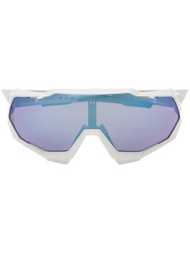 100% Eyewear white and blue speedtrap sunglasses