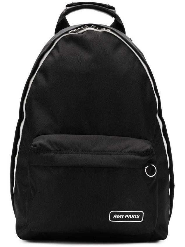 Ami Paris Ami Paris Backpack - Black