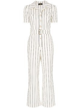 De La Vali Camino striped jumpsuit - White