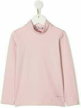 Monnalisa long-sleeve roll-neck top - PINK