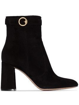 Gianvito Rossi 85mm buckled ankle boots - Black
