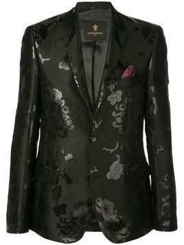 Lords And Fools floral jacquard blazer - Black