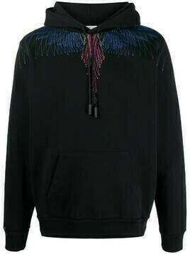 Marcelo Burlon County of Milan BEZIER WINGS REGULAR HOODIE BLACK BLUE