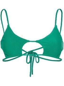 Frankies Bikinis Willa cut-out bikini top - Green