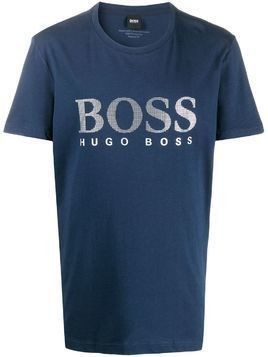 BOSS logo print T-shirt - Blue