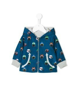 Stella Mccartney Kids helmet print reversible windbreaker - Blue