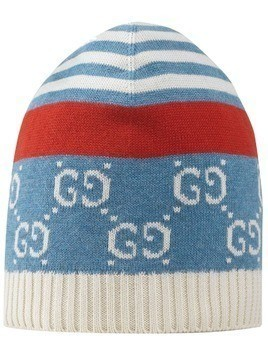 Gucci Kids GG knitted beanie hat - Blue