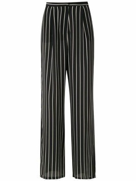 Adriana Degreas striped trousers - Black