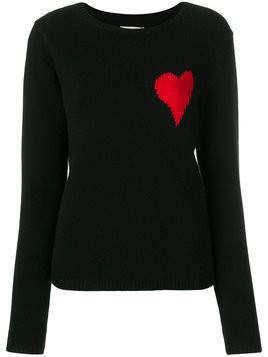 Chinti & Parker Confetti Heart jumper - Black