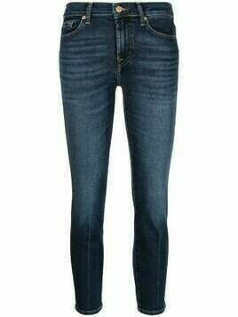 7 For All Mankind cropped slim-fit jeans - Blue