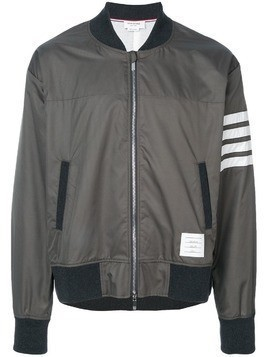 Thom Browne Seamed 4-bar Stripe Ripstop Mesh Bomber Jacket - Green