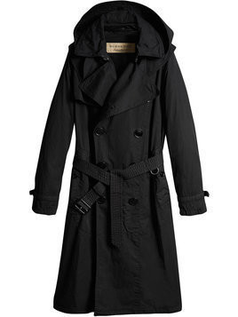 Burberry - Detachable Hood Cotton Trench Coat - Herren - Cotton/Leather - 46 - Black