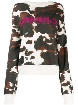House of Holland cow print hyper reality sweatshirt - Brown