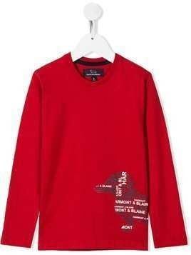 Harmont & Blaine Junior Dog print jumper - Red