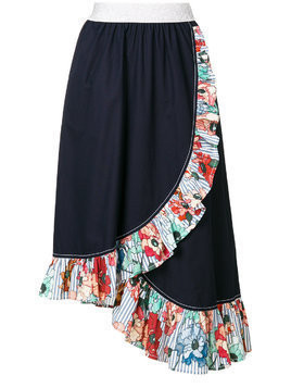 I'M Isola Marras ruffled trim asymmetric skirt - Blue