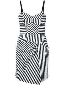 Milly short striped dress - White