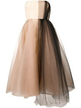 Alex Perry structured tulle dress - Neutrals